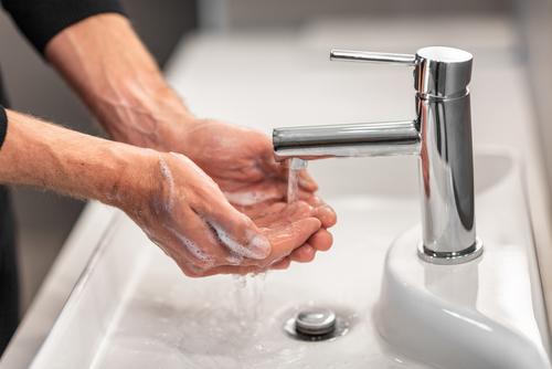 tankless hot water hand washing